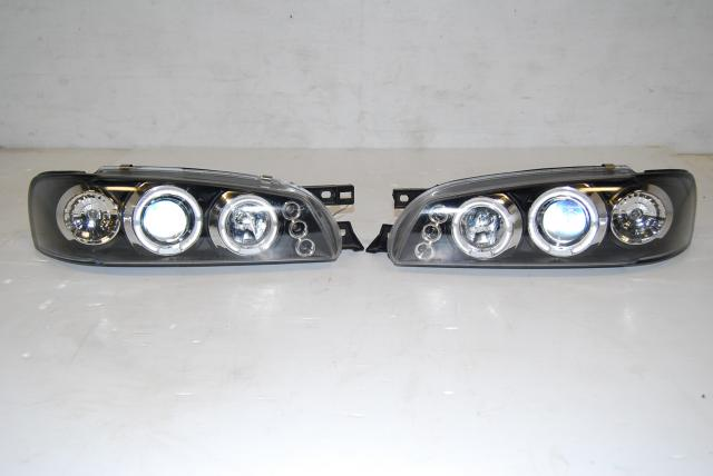 Subaru WRX STI Projector beam Headlamps, JDM Impreza GC GM GF LED Halo pro Headlights
