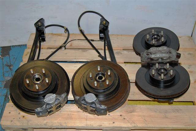 2002-2005 WRX 5x100 4/2 Pot Brake Kit For sale, JDM Complete Calipers, Rotors & Hubs Package
