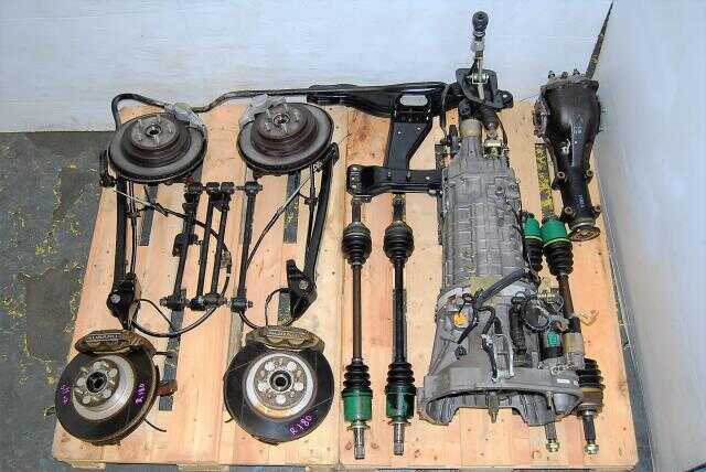 Subaru WRX STi TY856WB1CA Transmission Package and 4/2 Pot Complete 2002-2007 Brake Setup For Sale