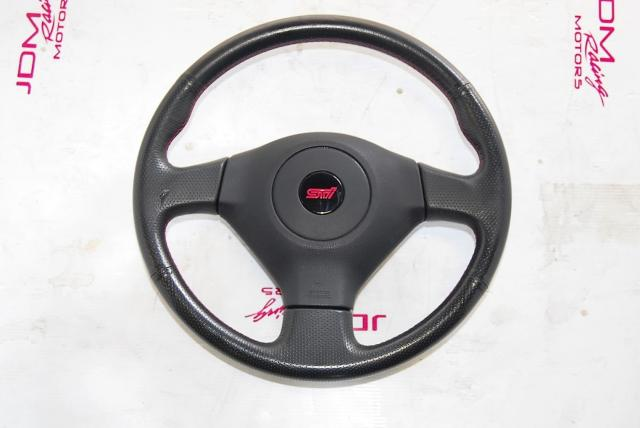 JDM WRX STi 2006-2007 v9 Steering Wheel with SRS Airbag For Sale