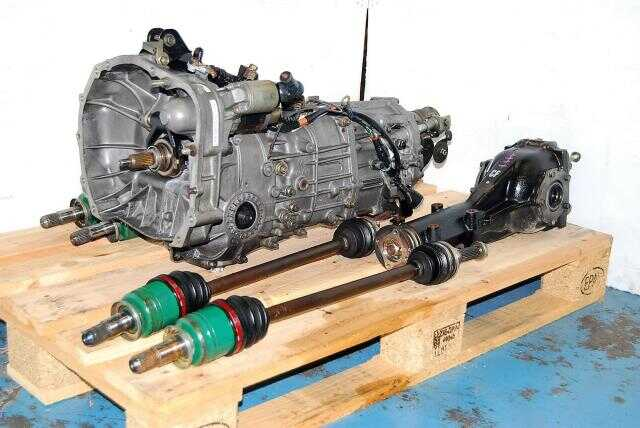 Used WRX 2002-2005 5-Speed Transmission Replacement For Sale, JDM TY755VB3AA 5MT with 4.444 Matching Rear Diff Package