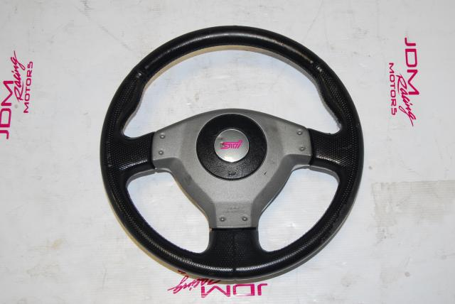 JDM Subaru STi 2004-2005 V8 WRX JDM Steering Wheel with SRS Airbag