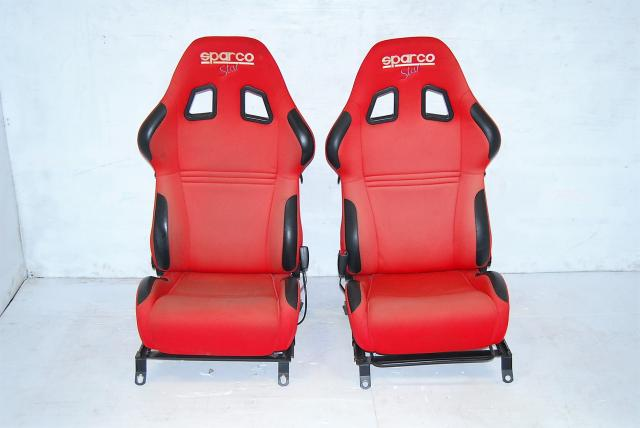 JDM Subaru WRX STi Sparco Star 2 Red Seats For Sale