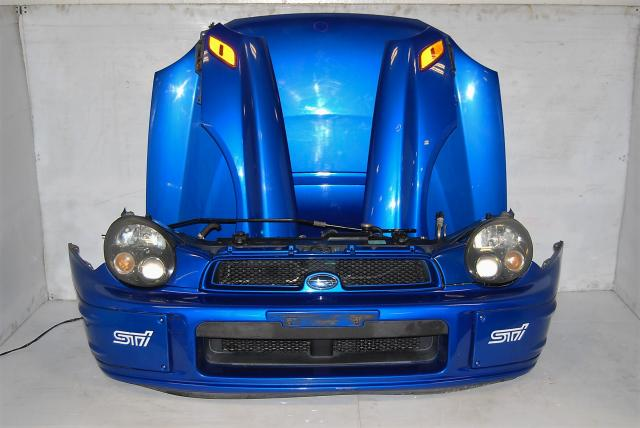 JDM WRX STi 2002-2003 Bugeye Version 7 Prodrive Nose Cut, Fenders, Hood with Scoop, Foglight Covers & HID Headlights with Ballasts