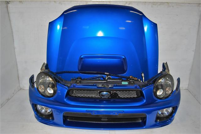 Impreza WRB 2002-2003 Version 7 Complete Front End Conversion, WRX STi Hood & Hood Scoop, Fenders with Side Markers & HID Healights For Sale