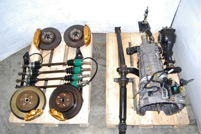 JDM 6 Speed TY856WL4CC Transmission with R180 STi Diff, Brembo Setup & Axles For Sale, Forester STi 6MT Package