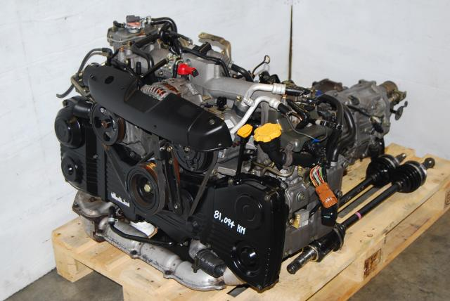 WRX 02-05 EJ20T AVCS Engine & Transmission, Quad Cam Turbo 2.0L EJ205 Motor & 5MT LSD Package