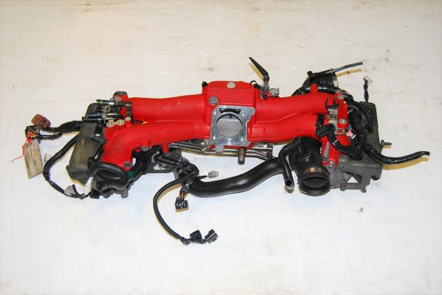 JDM Version 7 WRX STi Intake Manifold with STi Injectors, TGV Deleted Assembly For Sale