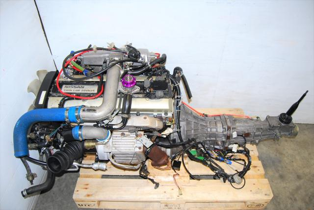 Used Skyline R32 GTS RB20DET Engine For Sale, JDM ECR32 Motor Package with Manual Transmission and Aftermarket Parts
