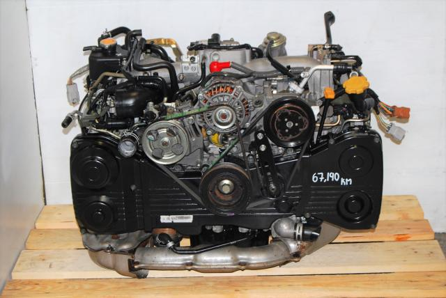 WRX Impreza 2002-2005 EJ20T DOHC Low Mileage Engine, JDM AVCS 2.0L EJ205 Motor For Sale