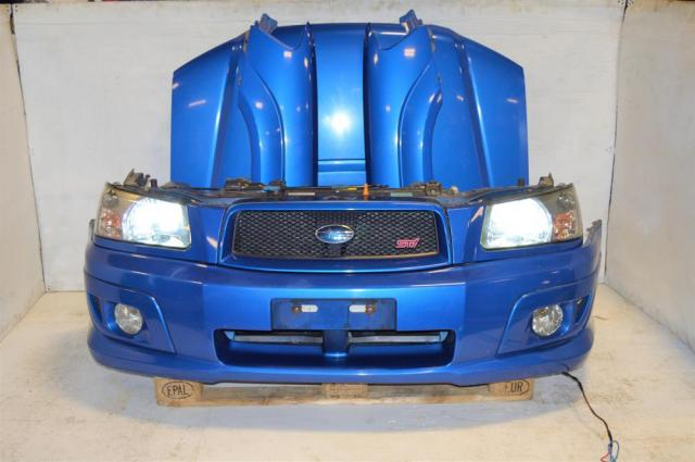 JDM Forester STi Complete Front End Conversion with STi Foglight Covers, Headlights, STi Grille, Fenders & Radiator with Support For Sale