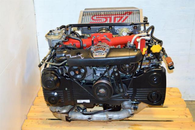 JDM Forester STi EJ255 2.5L Motor with VF41 Turbo, Subaru DOHC 2004-2007 Engine For Sale