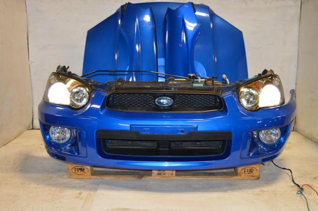 WRX 04-05 v8 JDM Nose Cut Conversion with Ballasts & HID Headlights, Version 8 Fenders, WRB Bumper & Hood For Sale
