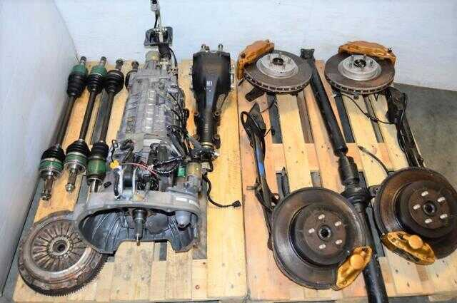 JDM Subaru STi Version 7 02-03 TY856WB1CA Complete Transmission Swap with STi Brembos, 6 Speed Driveshaft & Clutch and 4 Corner Axles For Sale