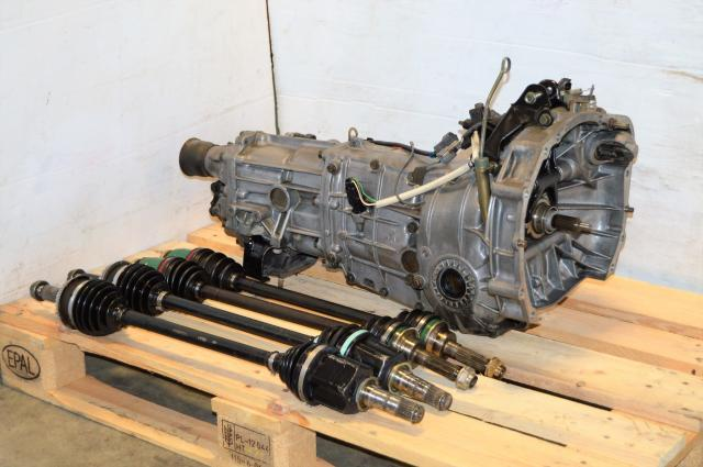 WRX 02-05 5 Speed Manual Transmission Swap For Sale with 4.444 R160 Matching Rear Diff and 4 Corner Axles