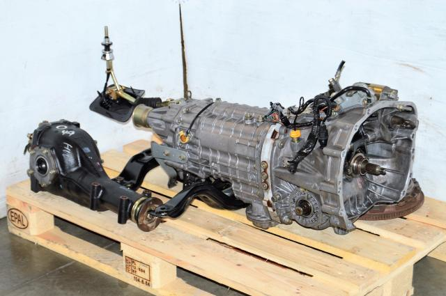 JDM Subaru STi 2004-2005 Version 8 TY856WB3KA Transmission with R180 3.9 Rear Differential & Clutch For Sale
