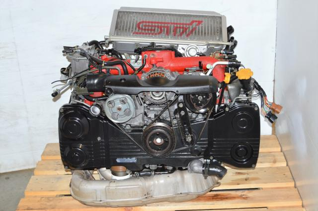 JDM STi version 8 EJ207 with VF37 Twin-Scroll Turbo Motor For Sale, Subaru 02-07 v8 2.0L Engine