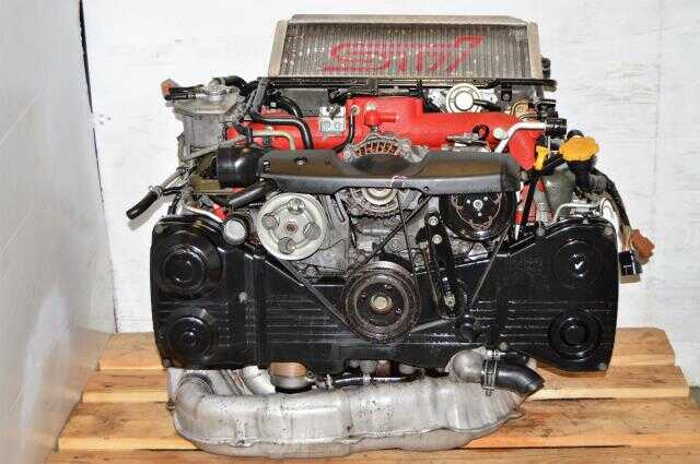 JDM WRX STi EJ207 Version 8 Motor Package with VF37 Twin Scroll Turbo & Downpipe For Sale