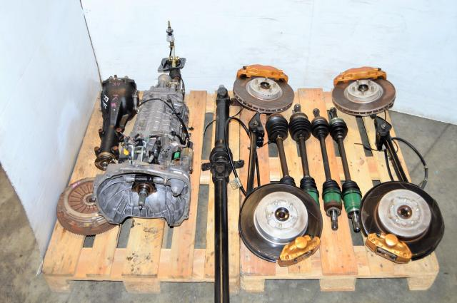 JDM STi 2002-2007 Version 8 TY856WB3KA Complete Transmission Package For Sale with Brembos, Hubs, 6MT Clutch, Driveshaft, Axles & R180 Rear Diff
