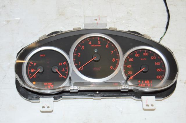 Used Subaru JDM STi Version 8 DCCD Instrument Gauge Cluster Assembly For Sale