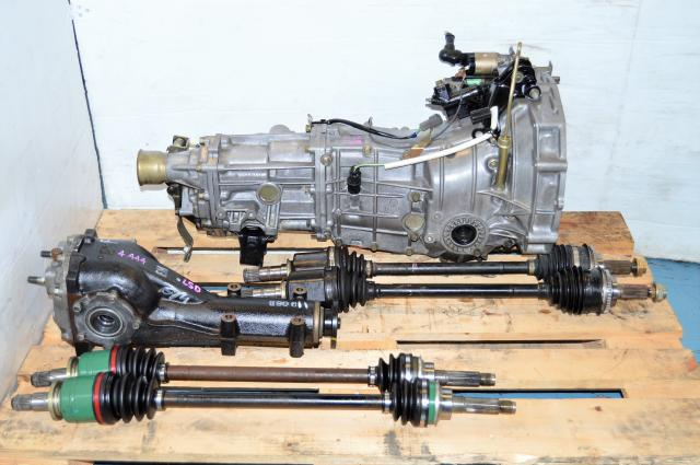 Impreza WRX Replacement 5 Speed Transmission, JDM TY754VB5AA 5MT with 4.444 LSD Rear Diff & Axles For Sale