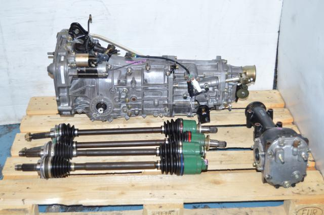 JDM 5 Speed WRX Replacement Transmission, 2002-2005 5MT For Sale with 4 Corner Axles & LSD Differential