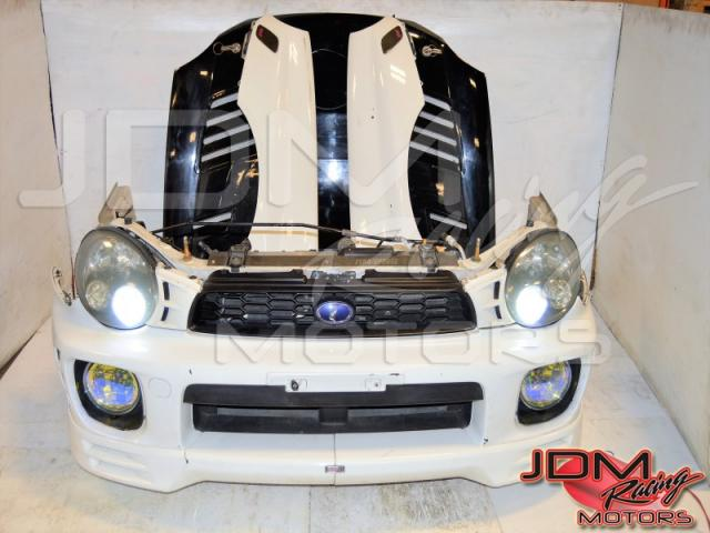 JDM Bugeye Version 7 Front End Conversion, 2002-2003 HID Headlights, JDM Foglights, Grille, Fenders with Side Markers & Carbonfiber Hood