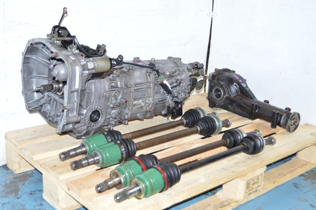 Subaru TY755VB5BA 5MT Replacment Package, JDM TY755VB3AA 5 Speed Manual Transmission with Axles and Matching Rear Differential For Sale