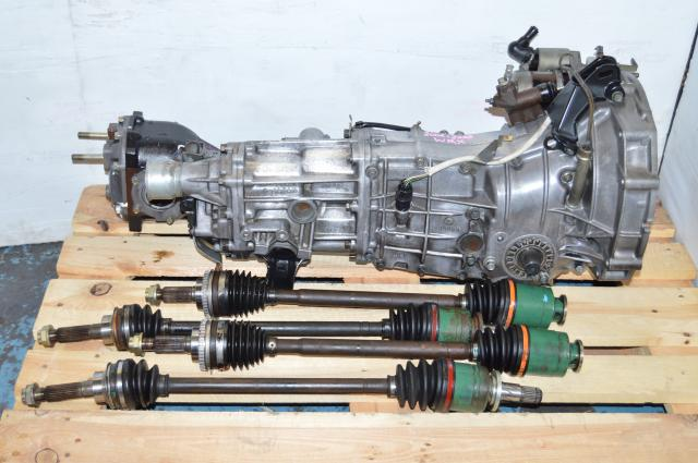 WRX TY754VV4AA Replacement Transmission Package, JDM TY755VB1AA 4.444 5MT with Axles & Matching Rear Diff