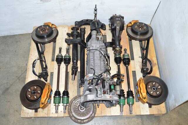 JDM Spec C Version 8 DCCD 6 Speed Swap with Brembos, Axles, Driveshaft & R180 STi 3.9 Final Drive Rear Differential