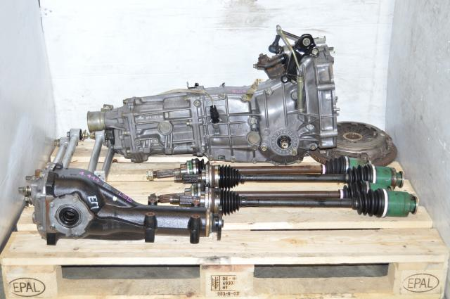 Impreza WRX GD 2002-2005 5 Speed Manual Transmission Swap For Sale with Aluminum Lateral Links, Rear LSD Differential & Axles