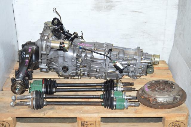JDM WRX 2002-2005 GD 5 Speed Manual Transmission, Subaru 5MT Matching 4.444 Rear Differential, Axles & Lateral Links