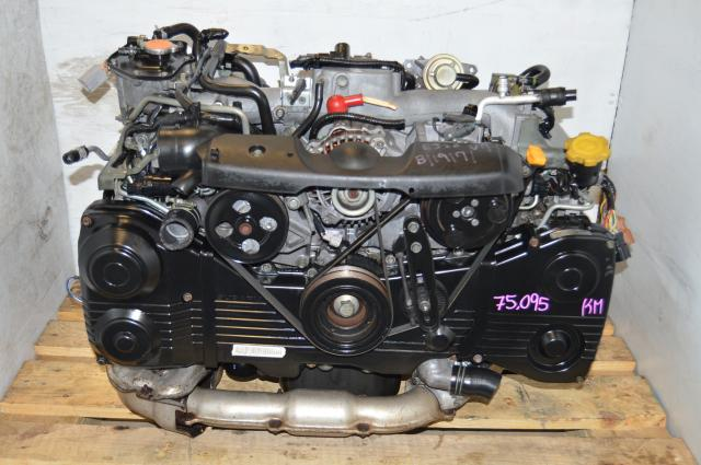 WRX EJ205 Turbo 2002-2005 Quad Cam Motor, JDM DOHC EJ20 Turbo AVCS Engine For Sale
