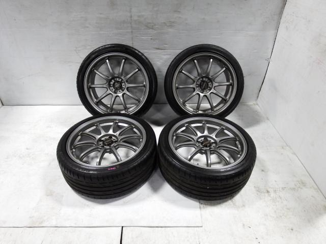 JDM Prodrive 5x100 18x8 Forged Mags with Bridgestone Tires +43 Offset