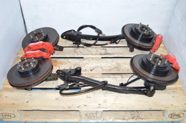 JDM Impreza WRX 2002-2005 4/2 Pot Front & Rear Complete Brake Assembly Package For Sale