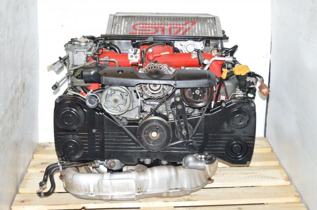 JDM WRX STi Version 8 Spec-C EJ207 2.0L Engine For Sale with VF36 Turbo, ECU & Downpipe