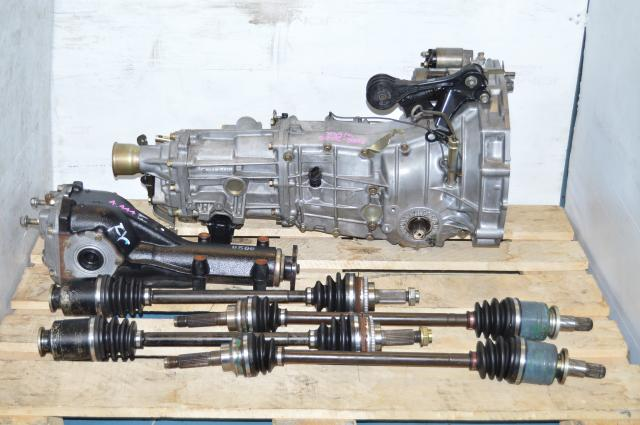 JDM Subaru WRX 5 Speed Manual Transmission Swap with 4 Corner Axles & Matching Rear 4.444 Differential For Sale