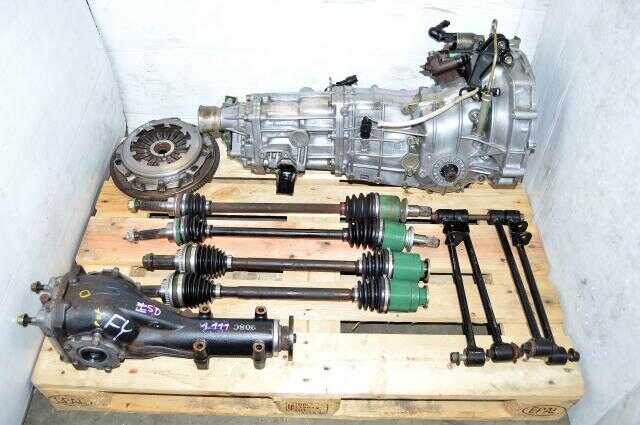 Used Subaru 5 Speed TY753VB1AA Transmission Replacement for 2002-2005 GD WRX For Sale with 4 Corner Axles, Lateral Links and Matching Rear 4.444 Differential