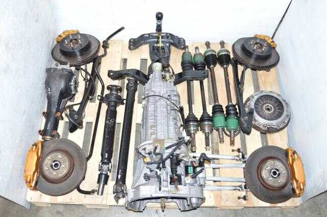 STi Version 9 TY856WB7KA 2002-2007 Complete 6 Speed Swap with R180 3.54 Diff, Aluminum Control Arms, 5x100 Hubs & JDM Axles For Sale