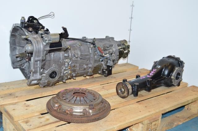 Impreza WRX 2006-2007 5 Speed Manual Transmission Swap, JDM Push Type 5MT For Sale with 4.444 LSD Rear Diff
