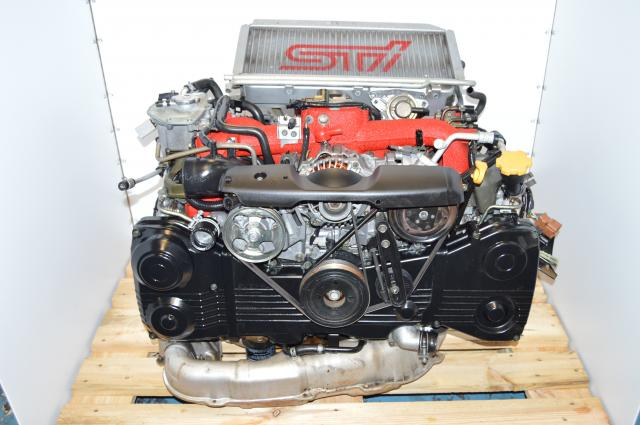 JDM STi 2002-2007 Version 8 AVCS Motor, Subaru EJ207 2.0L DOHC Twin-Scroll VF37 Turbo Engine Swap
