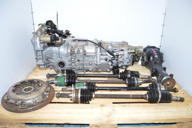 Impreza WRX 02-05 5 Speed Transmission JDM Spec Swap For Sale with 4 Corner Axles & 4.444 Rear Differential