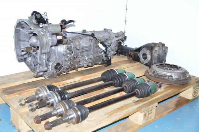 JDM 5 Speed WRX 02-05 Transmission Replacement Swap For Sale with Axles, Clutch and Rear 4.444 LSD Rear Differential