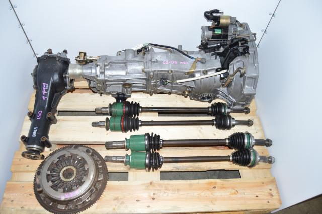 USDM WRX 5 Speed 4.444 Replacement Manual Transmission with 4 Corner Axles & Matching Rear LSD Diff