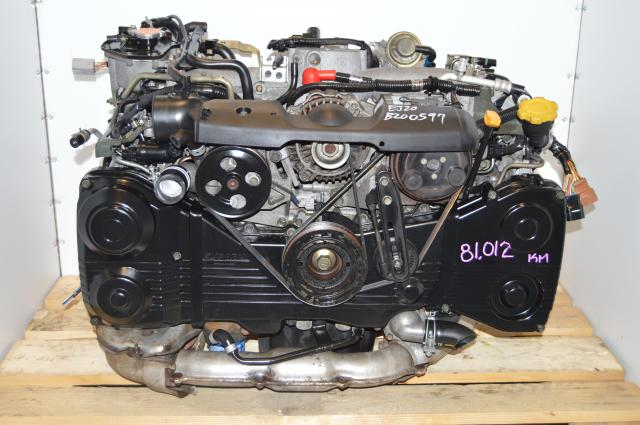 WRX 2.0L Turbocharged EJ205 Impreza DOHC Motor, JDM AVCS EJ20 Turbo Low Mileage Engine Swap For Sale