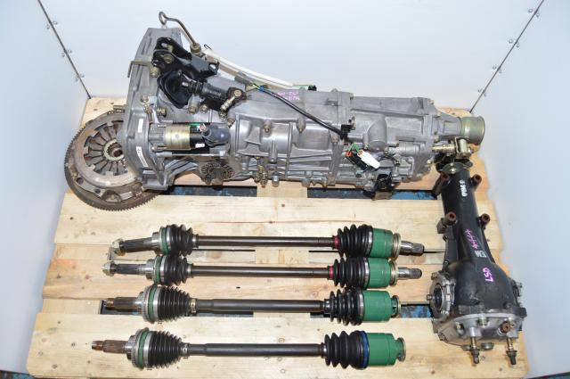 Used JDM 5 Speed WRX Transmission Replacement Swap with Matching 4.444 LSD Rear Differential & 4 Corner Axles