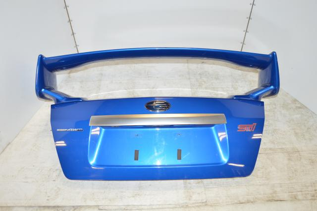 JDM Subaru STI World Rally Blue Sedan Trunk with Wing 2011-2014