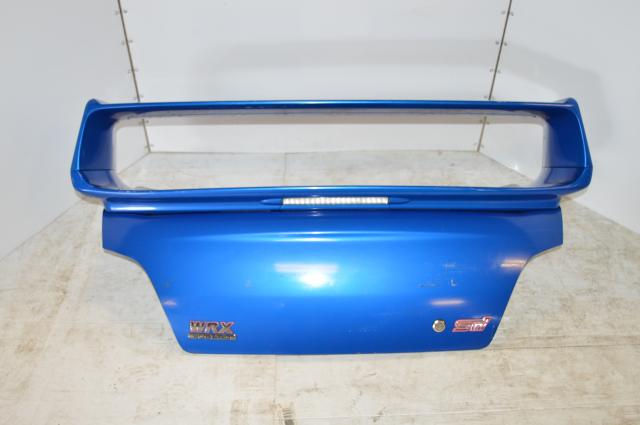 JDM Subaru STI World Rally Blue Trunk with Wing 2002-2007