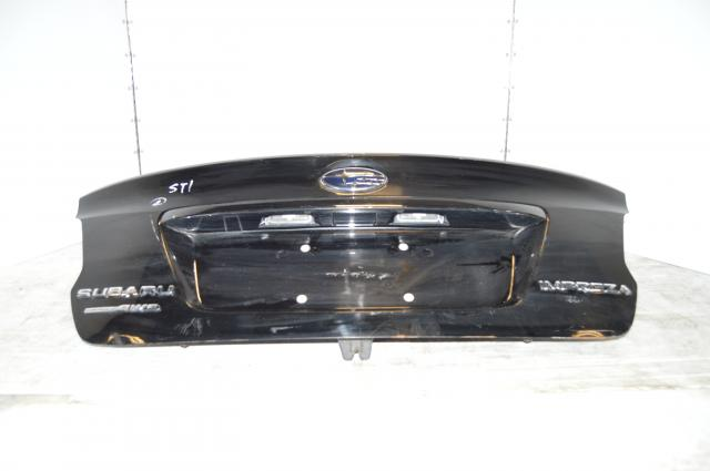 JDM Subaru STI Black Trunk Wingless 2015+