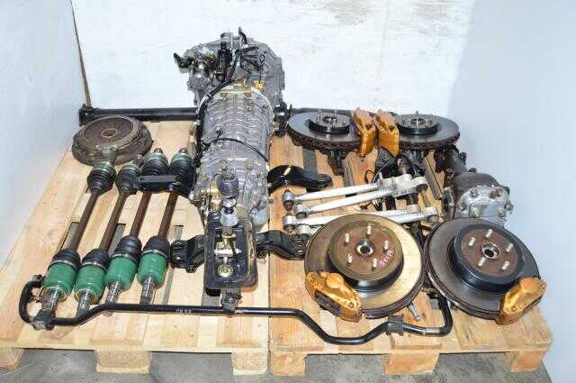 Used Version 8 DCCD JDM TY856WB4KA 6 Speed Transmission Swap with Brembos, Axles, 5x114.3 Hubs, Driveshaft & R180 STi Differential